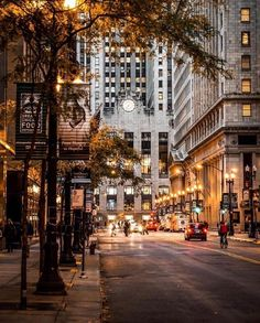 Downtown in the Fall. #citylights #fall #cityfall