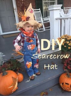 Easy, adorable floppy scarecrow hat DIY tutorial for costumes or decorations!