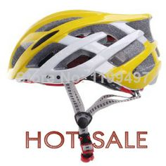 New Arrival Outdoor Bicycle Cycling Helmet Ultralight and Integrally-molded Bike helmets Bicycle EPS+PC helmet Yellow(Size L) $168.00