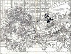 The Big Guy and Rusty the Boy Robot + Spawn by Geof Darrow