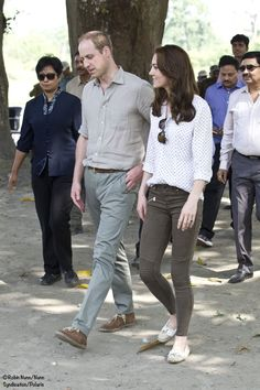 This morning Kate and William had an early start at Kaziranga National Park and Bihu festival celebration, Royal Tour, April 2016.