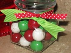 Christmas decor- gumballs...