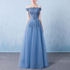 Buy Rosita Off Shoulder Embroidered Evening Gown at YesStyle.com! Quality products at remarkable prices. FREE WORLDWIDE SHIPPING on orders over US$ 35.