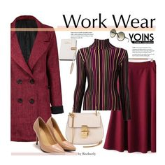 """Yoins - Work Wear"" by beebeely-look ❤ liked on Polyvore featuring Issey Miyake, Chloé, Calvin Klein, Swarovski, Tom Ford, WorkWear, fallfashion and yoins"