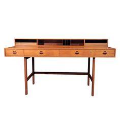 Jens Quistgaard Flip-top Danish Teak Desk, 1960s