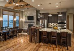 Rustic Chic Lake House Kitchen