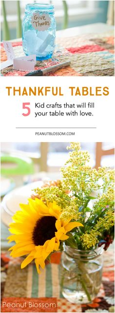 Adorable ideas for decorating your Thanksgiving table with kids crafts that focus on being thankful. Love these simple lessons in gratitude for the kids that doubles has personal home decoration! Can't wait to get started.