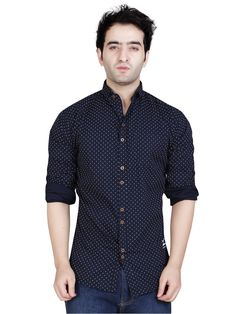 6fc50d6685 Buy Garun Black Color Printed Casual Button Down Shirt on Zinnga Fashions.