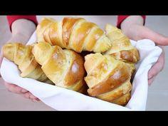 CORNETTI DOLCI Ricetta Facile con poco burro - Easy and Quick Croissant Recipe - YouTube