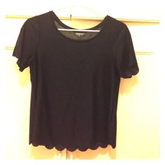 Black short sleeve top Cute and comfortable black top from Topshop that can be dressed up or down with any outfit and mix of accessories. Topshop Tops
