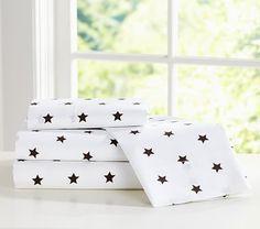 Organic Star Sheet Set, Chocolate #pbkids