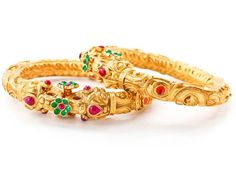 http://www.TBZtheoriginal.com/gold-collection.html his ethnic pair of bangles is bound to grace you with more attention than expected. Revel in it with charm and poise. Product Code T95139