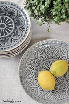 Decorative ceramic dishes from Danish Lisbeth Dahl.