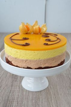Photo by nubsu Cheesecake Recipes, Dessert Recipes, Mango Chocolate, Finnish Recipes, Chocolate Cheesecake, Sweet Cakes, Baking Recipes, Cake Decorating, Sweet Treats