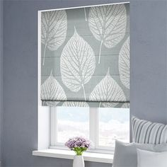Leaf Pewter Roman Blind from Blinds Grey Roman Blinds, Roman Shades, Plywood Furniture, Modern Furniture, Furniture Design, Gypsy Curtains, Chinoiserie Chic, Chair Design, Design Design