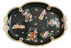 One Kings Lane - 19th-C. Chinoiserie Porcelain Tray