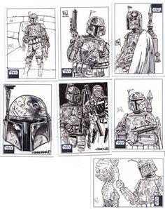 Boba Fett Sketch Cards