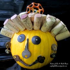 Repurpose stuff to make a cute Jack O Lantern! DIY ~ Make a Junk O'Lantern