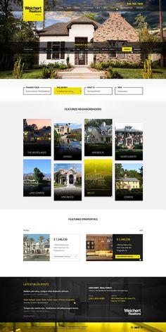 Real Estate Webdesign for WRInfocus Flat Web Design, Minimal Web Design, Website Design Inspiration, Web Layout, Layout Design, Design Design, Graphic Design, Design Thinking, Portfolio Webdesign