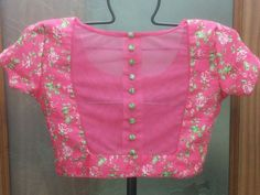 Latest boat neck blouse designs - The Handmade Crafts Netted Blouse Designs, Simple Blouse Designs, Stylish Blouse Design, Blouse Back Neck Designs, Designer Blouse Patterns, Saree Blouse Patterns, Anarkali, Boat Neck, Sarees