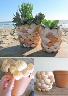 20 Unique Decor Ideas- Make Difference Using Diy Seashells - Top . 20 Unique Decor Ideas- Make Difference Using Diy Seashells - Top diy seashell crafts - # Seashell Art, Seashell Crafts, Beach Crafts, Diy Home Crafts, Garden Crafts, Seashell Decorations, Diy Para A Casa, Seashell Projects, Diy Projects