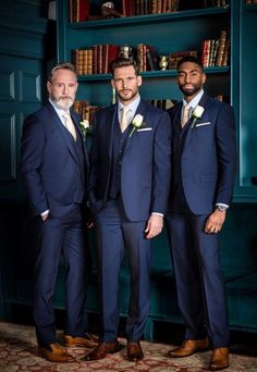 weddings groomsmen attire * weddings groom _ weddings groomsmen _ weddings groom attire _ weddings groomsmen attire _ weddings groom suit _ weddings groom and groomsmen _ weddings groom and bride _ country wedding groomsmen Blue Suit Wedding, Wedding Tux, Trendy Wedding, Mens Wedding Suits Navy, Men Wedding Attire, Wedding Colors, Wedding Flowers, Wedding Bridesmaids, Dress Wedding