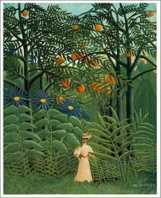 「神秘的な森林に入る女性」 1905年 原画サイズ(99.9×80.7cm) 所蔵:バーンズ財団