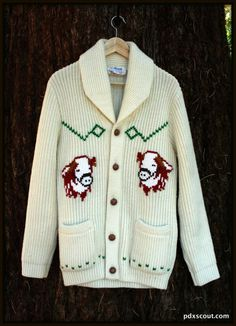 Creme Bull Cowichan Sweater by pdxscout on Etsy, $98.00