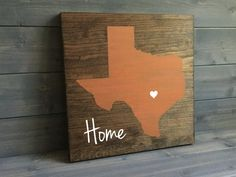 Pick Colors Texas Custom Wood Sign Texas State by RusticStrokes