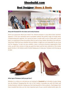#shoebuild #shoebuild.com #shoe build  Shoebuild has just submitted a new PDF visit and read now. http://documents.tips/lifestyle/shoebuild-shoebuildcom-genuine-prices-for-quality-shoes.html