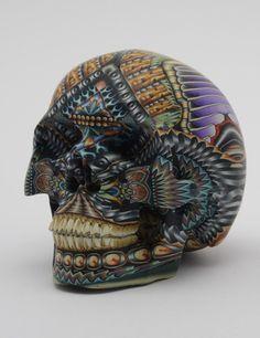 clay skull by Jon Stuart Anderson