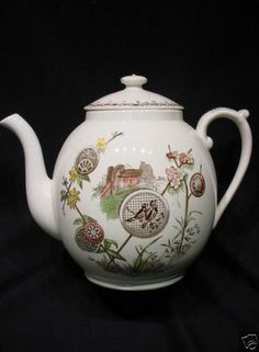 Antique Aesthetic Brown Transferware Polychrome Chinoiserietea Pot Pavia 1881   eBay  (this is the pattern that I have on a plate my grandmother gave me) It belonged to her grandmother I think, but I would love to find out what the scene is of and where it came from, if anyone knows.