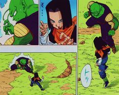 Source picts : Piccolo VS C17 illustrated by Akira Toriyamamy scans from Dragon Ball full colourPublished by JUMP COMICS / Shueisha group