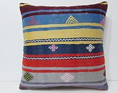 kilim pillow 24x24 moroccan pouffe large boho pillow large floor pillow euro pillow sham big pillow cover 24x24 throw pillow blue gold 22693