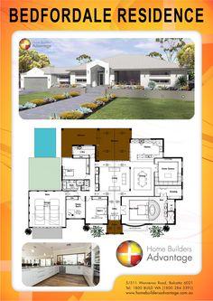 Home Builders Advantage- Perth's Biggest Building Broker- Single Storey Home Design- Modern Style Farm House With Hotel Style Master Suite & Chefs Kitchen- www.homebuildersadvantage.com.au