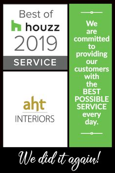 For the 6th year in a row, AHT Interiors has been presented the Best Of Houzz: Service award! Service is what we are all about, and we are so proud to receive this recognition from the top online community for home design and improvement! . . #bestofhouzz #houzzserviceaward #bestofhouzz2019 #lovewhereyoulive #welovewhatwedo