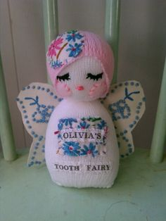 tooth fairy doll- it caught my eye because it has my name on it.   literally!