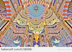 Islamic art and architecture is often called psychedelic in nature – and rightly so. Both the art and architecture from the Islamic world feature vibrant colours and intricate, geometric patterns; Art Et Architecture, Islamic Architecture, Beautiful Architecture, Cultural Architecture, Islamic World, Islamic Art, Islamic Quotes, Art Nouveau, Art Du Monde