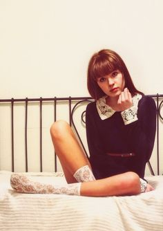 Alexa sweater dress: Nasty Gal // Tiny belt: Nasty Gal // Floral socks: Modcloth