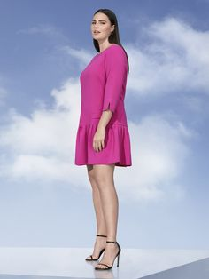 6c408abe157ef7 Victoria Beckham x Target Collaboration in Plus Sizes- Women s Plus Fuchsia  Jacquard Drop Waist Dress