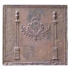 19th Century French Pillars with Decoration Fireback