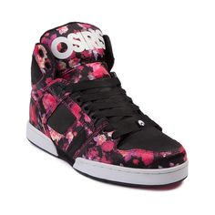 Shop for Womens Osiris NYC 83 Slim Skate Shoe in Black Floral at Journeys Shoes.  The classic NYC 83 Slim from Osiris gets a trendy dose of floral in this exclusive edition high top skate shoe! Available only at Journeys and SHI, features a floral print synthetic upper, black contrast toe and side panels, padded tongue and collar, and grosgrain ribbon lace closure for fresh, feminine ... ~~ thepromenadebolingbrook.com