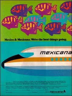 1979 Mexicana Airlines Original Vintage Print Ad Beautiful Color 1970s Art