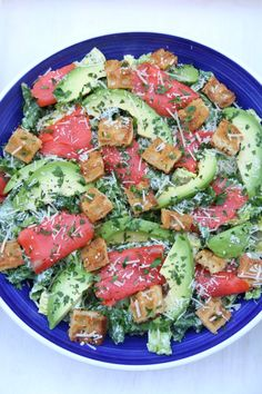 ... salads: Mixed salad with avocado dressing and salmon/avocado Caesar