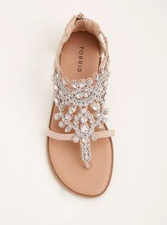 899e36d81c2 Gemstone T-Strap Sandals (Wide Width)Gemstone T-Strap Sandals (Wide Width)