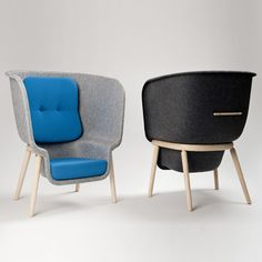 London designer Benjamin Hubert launched this chair with a pressed-felt shell at Ventura Lambrate in Milan last month.