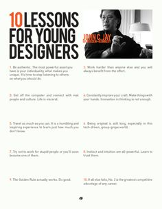 10 lessons for young designers #infographic