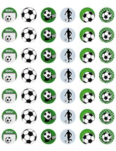 Soccer/ Football Themed PRINTABLE Bottle Cap Images ~ Template of 42!