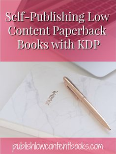 Self-Publishing Low Content Paperback Books with KDP Writing Resources, Writing A Book, Writing Tips, Amazon Publishing, Self Publishing, Psychology Books, Blank Book, Memory Books, Paperback Books