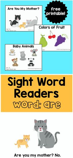 """Sight word readers for the word """"are"""""""